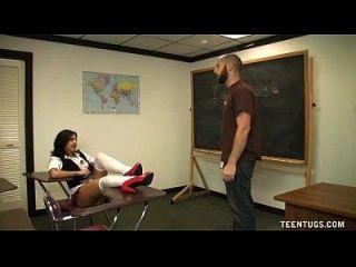 colegiala sacude del maestro