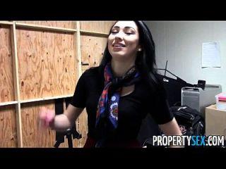 propertysex hermosa morena agente de bienes raíces oficina en casa sexo video