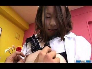 nao kojima japanese maid folla con su maestro