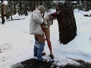 follando en el frío del invierno
