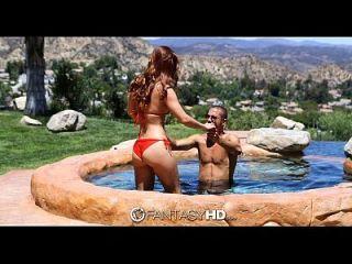 fantasyhd karlie montana y danny follan junto a la piscina