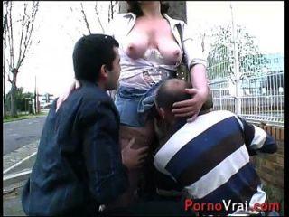 sylvie fait la pute elle se fait tirer en pleine rue !!! amateur francés