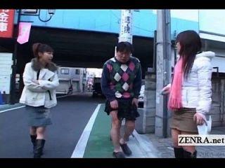 subtitulado crazy public japanese crossdressing femdom