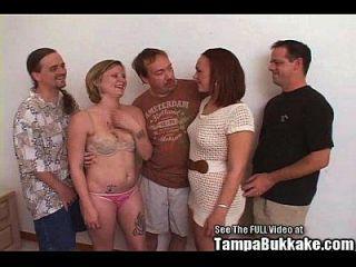 dos putas del partido consiguen un maldito bukkake
