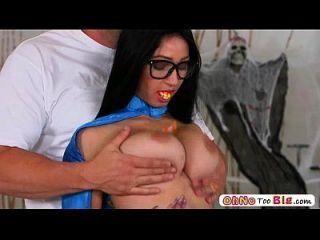 rubia sexy hot babe crystal rae deepthroat al máximo