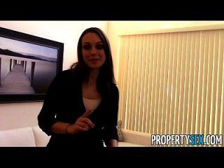 propertysex motivado agente de bienes raíces utiliza el sexo para obtener nuevo cliente