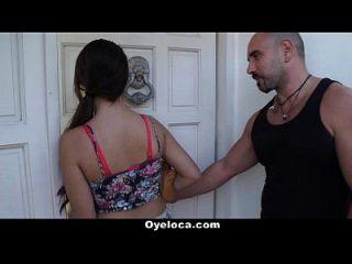 oyeloca linda latina recompensa extraño con una cogida