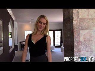 propertysex esposa super fina engaña a su marido con agente de bienes raíces