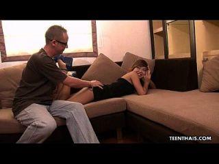 linda tailandesa adolescente conseguir martillado y cummed en