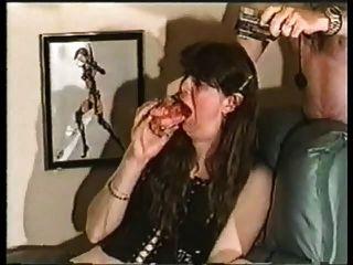 Gran consolador vs esofágico deepthroat acción