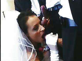 ¡UH oh!La novia folla y chupa la manera a través del partido nupcial entero en noche de bodas!¡por favor comenta!