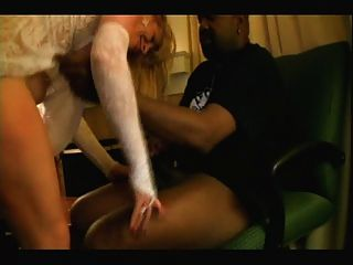 Rubia, blanco, novia, negro, amantes, casero, interracial, cuckold