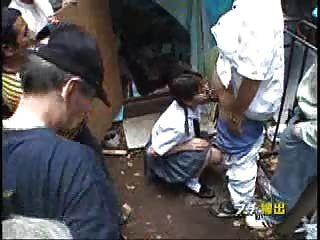 Dulce follada jap adolescente en la zona pública