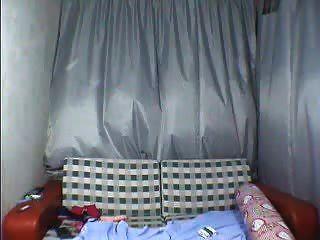 Linda adolescente chino bailando desnuda en webcam