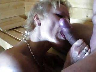 Madura en la sauna
