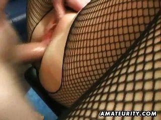 Amateur milf anal casero con creampie