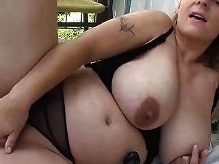 Rubia chubby chica jugando para webcam (dm)