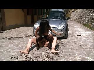 Italiano maduro duro anal follada duro al aire libre
