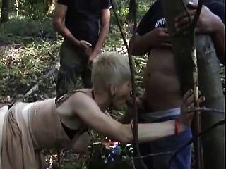 French slutty granny gangbanged al aire libre