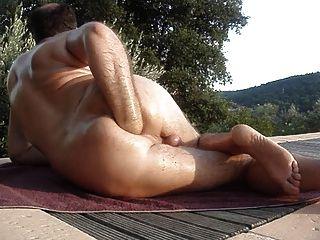 Fisting anal al aire libre este verano