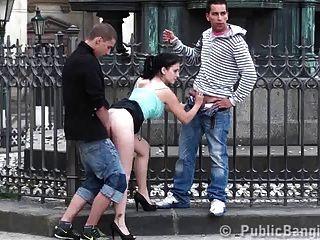 Grupo de sexo en grupo en el centro de la ciudad parte 2