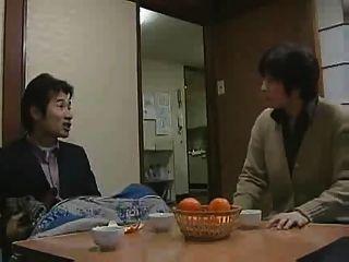Chica japonesa con su padre