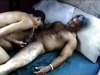 Negro, más viejo, papá, papá, folla, negro, muchacho, cremoso, cara