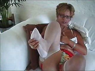 Mujer en medias