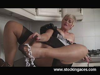 Hot sexy milf maid sally uk