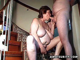 Chubby amateur esposa juguetes y chupa y se la follan