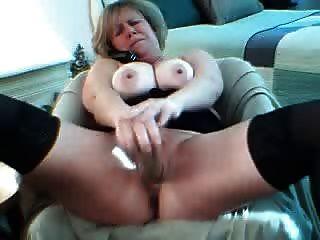 Cachonda cachonda en la webcam