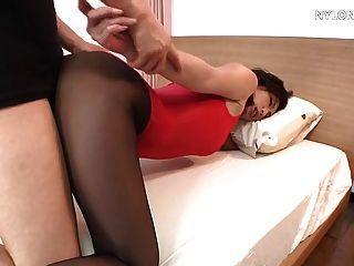 Medias sexo en pantyhose de nylon leotard