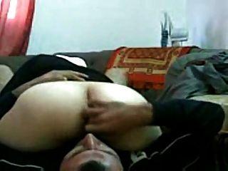 Chica arabe follada en la oficina