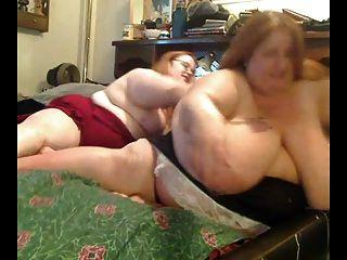 Lesbianas gordas gordo gordas que juegan con uno a