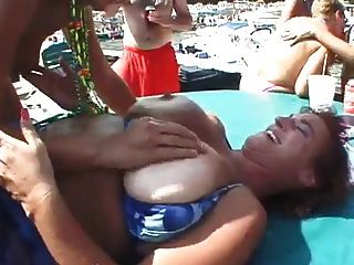 Maduras cachondas playa
