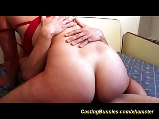 Cute french babes first anal porno casting