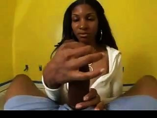 Big black boobs handjob de un gran pene negro