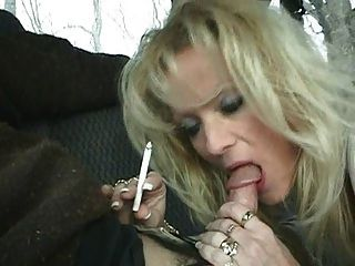 Hot blonde milf staci fumando bj