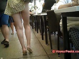 ¡El vestido consiguió cogido en su asno caliente del monedero expuesto en público!