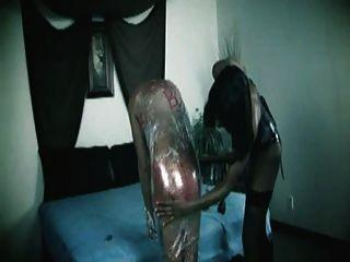 Cukegirl negro shemale dominación hombre esclavo plastico bondage
