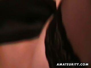 Caliente rubia amateur novia chupa y folla con el facial