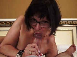 Hot grandma loves young cocks