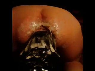 Hugest dildo fuck 2 ass inserción 2