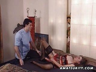 Madura amateur esposa juguetes de su culo y se anal fuck