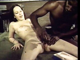 Vintage: 70s interracial morena toma gallo negro