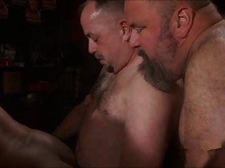 Papá oso jodido en la fiesta del sexo