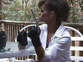 Masturbación de pantalones de fumar hotlegs