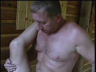 Sexo en una cabaña, una gal más vieja viviendo