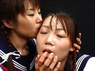 Chica japonesa cum jugar e intercambiar
