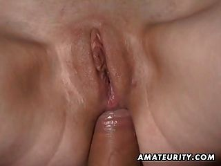 Busty amateur girlfriend acción anal con corrida